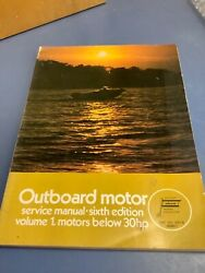 Abos Outboard Motor Service Manual 1973 6th Edition Vol 1motors 30 Hp And Below
