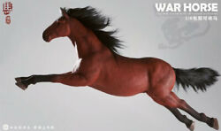 Hun Zuo Toys 1/6 Brown War Horse Medical Silicone Horse Collection Figure