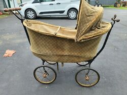 Vintage Kozekar Baby Buggie Carriage. Made In The 1920s. Great Decorator Piece.