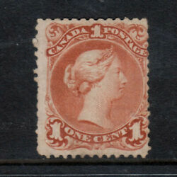 Canada 22a Mint Fine Unused No Gum Watermarked Showing Two Letters
