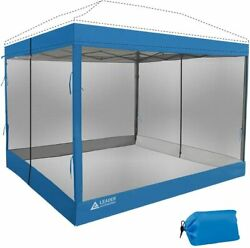 Leader Accessories Mesh Screen Zippered Wall Panels For 10and039 X 10and039 Canopy Tent W