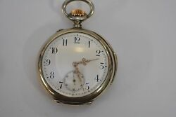 J. Calame Robert Repeater Pocket Watch Sterling Silver