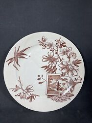 Antique Aesthetic Brown Transfer Dinner Plate Kenilworth H Alcock And Co Guc