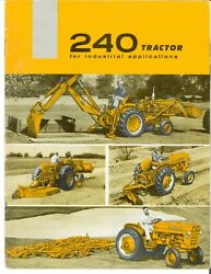 Ih International 240 Utility Tractor For Industrial Applications Color Brochure