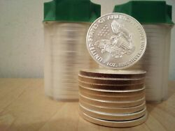 Lot Of 50 - 2021 American Silver Eagle 1 Coins Bu - 1oz. Superb Condition
