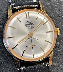 Nos New Tanus Prima Fe 233-60 Hand Manual 1 3/16in Vintage Watch