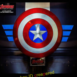 King Arts Mps022 Life Size 1/1 Diecast Captain America Shield Avengers 2 H 32
