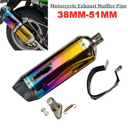 38-51mm Scooter Quad Atv Bike Motorcycle Exhaust Muffler Pipe Silencer Stainless