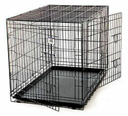 Wire Pet Crate Wire Double Door Giant Dog Canine Home Travel Training Heavy Duty