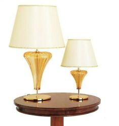 Table Lamp In Murano Glass Blown Light For Support Art New