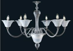 Chandelier Modern Of Design In Murano Glass Made By Hand In Italy 6 Lights