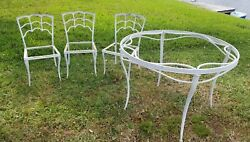 Vintage Brown Jordan Applause Patio Set-3 Chairs And Table 1960's 4 Pc Dining Set