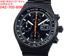 Sinn 144 Stainless Steel Automatic Winding Black Dial Chronograph Wristwatch