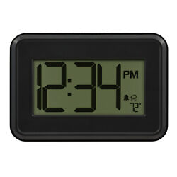 W80000 La Crosse Technology Digital Wall Clock with IN Temperature amp; Timer