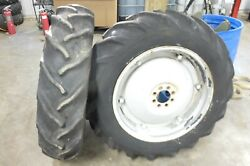 53 Ford Jubilee Naa Tractor Rear Back Wheels Rims Tires Right Left Set