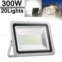 20x 300w Led Flood Light Cool White Superbright Waterproof Outdoor Security Work