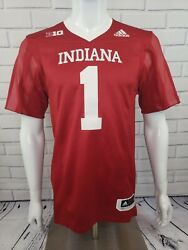 Adidas Indiana Hoosiers 1 Climalite Limited Home Football Jersey Size S Ea2008