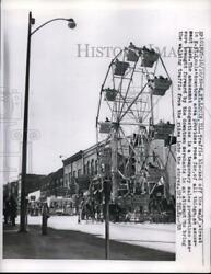 1959 Press Photo traffic blocked off Main St. in St. Louis for Fair attractions $19.99