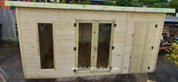Summerhouse Shed Workshop Pent Cabin Lead Time 8-14 Weeks Check Postcodes
