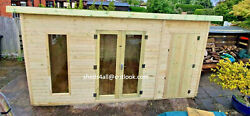 Summer House Shed Workshop Cabin Lead Time 10-14 Weeks Check Postcodes