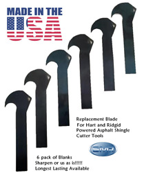 Roofing Cutter Blades For Shingles Asphalt Roof Roofing Fits Ridgid Hart 6 Pack