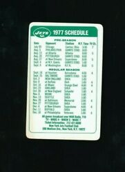 Hess 1977 Ny Jets Plastic Credit Card Size Season Schedule Very Rare Nfl