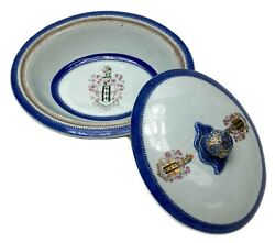 Chinese Export Porcelain Tureen And Cover Snodgrass Code Of Arms C1800