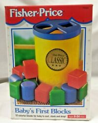 Fisher-price Baby's First Blocks Ages 6-24 Months Vintage 1995 Unopened