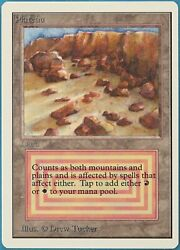 Plateau Unlimited Unl Lines On Front Nm Land Rare Card Id 199384 Abugames