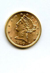 1900 5 Gold Liberty Coin Uncirculated