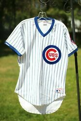 Vintage Chicago Cubs Mlb Jersey Rawlings Size 40 Medium Pinstripe Authentic