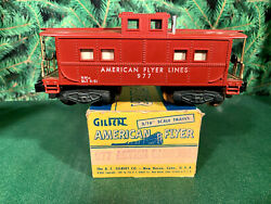 American Flyer Lines 1955-1957 977 Action Man Lighted Caboose, .e+/ob