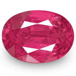 Igi Certified Mozambique Ruby 1.31 Cts Natural Untreated Fiery Vivid Pink Red