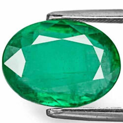 Zambia Emerald 4.94 Cts Natural Leaf Green Oval