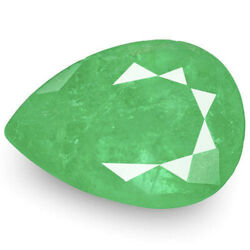 Colombia Emerald 3.19 Cts Natural Intense Green Pear