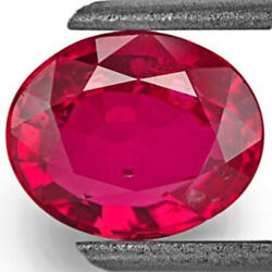 Gia Certified Mozambique Ruby 2.04 Cts Natural Untreated Neon Pinkish Red Oval