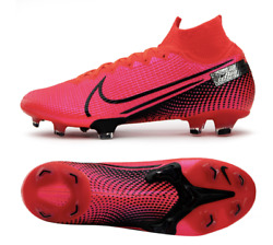 Nike Men Mecurial Super-fly 7 Elite Fg Cleats Soccer Red Boot Spike Aq4174-606
