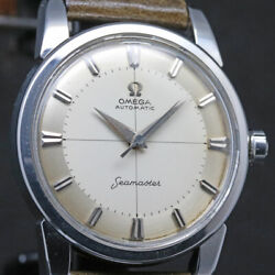 Omega Seamaster Ref.2846-13sc Cal.501 Two-tone Dial Automatic 34mm Overhauled