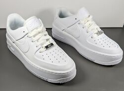 Nike Air Force 1 Sage Low Sneakers Shoes Triple White Womens Size 6.5 Ar5339 100