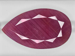 Gii Certified Guinea Ruby 70.01 Cts Natural Untreated Pinkish Red Pear