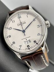 Davosa Classic Automatic 40mm Swiss Automatic Date White Dial Blued Steel Hands