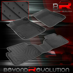 For 2018-2021 Honda Accord Replacement Heavy Duty Rubber All Weather Floor Mats