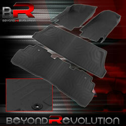 For 2018-2021 Honda Odyssey Replacement Heavy Duty Rubber All Weather Floor Mats