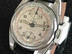Breitling Chronograph Arabic Numeral Index Venus170 Vintage Watch 1940and039s