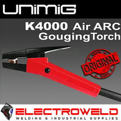 Unimig K4000 Air Arc Gouging Torch 1000 Amp Clamp Carbon Gouger Welding 2m Cable