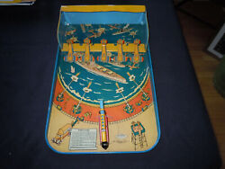 Wolverine Supply And Mfg. Co. Vintage Wwii Army - Navy Bombardment Tin Toy Game