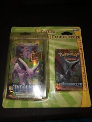 Pokemon Rare Blister Pack Hs Undaunted Espeon Theme Deck And Booster Pack