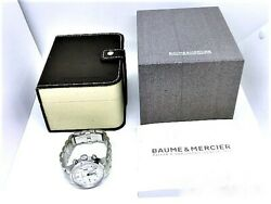 Baume And Mercier Moa10064 Stainless Steel Capeland Chronograph Date Wristwatch