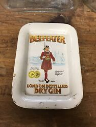 Vintage Beefeater Gin Tip Tray Sign Bottle Whiskey Liquor Beer