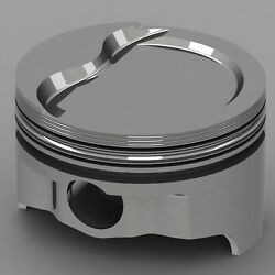 Icon Forged Piston And Ring Set - Chrysler 390 Rod 6.123 Step Dish 23cc 2v
